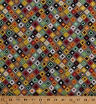 Cotton Journey Diamonds Squares Square Geometric Southwest Southwestern Gray Cotton Fabric Print by the Yard (bd-49205-a02)
