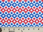 Cotton Patriotic Stars Red White and Blue Fourth of July USA United States of America American Stars & Stripes Cotton Fabric Print by the Yard (146-47648-RWB)