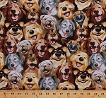 Cotton Dogs Golden Retrievers German Shepherds Doggy Animals Canine Cotton Fabric Print by the Yard (MICHAEL-C5314)