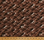 Cotton Chocolate Brownies Food Dessert Desserts Kitchen Baking Bakery Bakers Sweet Treats In the Mix Cream Cotton Fabric Print by the Yard (37470)