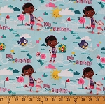 Cotton Doc Mcstuffins Daily Dose of Sunshine Disney Cotton Fabric Print by the Yard (52512-9130715)
