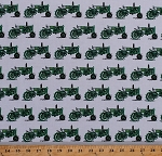 Cotton Green Tractors Tractors Farmers Farming Country Everyday Favorites on White Cotton Fabric Print by the Yard (AMK-16021-7-GREEN)