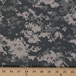 Digital Camo Camouflage Army Desert Twill Cotton Blend Fabric By the Yard (Z6L)