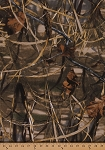 Realtree Advantage Max 4 Slightly Brushed Medium/Heavy Weight Marsh Camouflage Twill Leaves Leaf Branches Twigs Grass Camo Fabric By the Yard (2681i-6N)