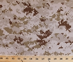 United States Marine Corps Digital Camouflage Camo Desert Sand Brushed Heavy Twill Fabric by the Yard (8318S-2M)
