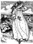 Folkwear Prairie Dress #201 - 1800's Gown Frock Apron American Out West Reproduction Sewing Pattern (Pattern Only) folkwear201