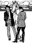 Folkwear Countryside Frock Coat #263 Traditional Jacket Riding Equestrian Sewing Pattern (Pattern Only) folkwear263