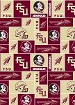 Florida State University™ Seminoles™ College Fleece Fabric Print