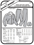 Men's Willow Creek Cross Country Jogging Skiing Suit #116 Sewing Pattern (Pattern Only)