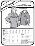 Women's Fairbanks Pullover Coat Jacket #123 Sewing Pattern (Pattern Only)