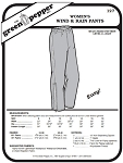 Women's Wind And Rain Pants #127 Sewing Pattern (Pattern Only)