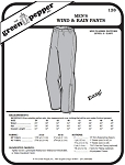Men's Wind and Rain Pants #128 Sewing Pattern (Pattern Only)