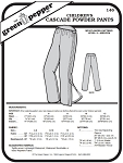 Children's Cascade Powder Snow Pants Kids #146 Sewing Pattern (Pattern Only)