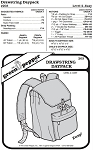 Drawstring Daypack Backpack Bag #203 Sewing Pattern (Pattern Only)