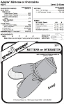 Adult's Overmitts Insulated Mittens #207 Sewing Pattern (Pattern Only)