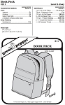 Book Bag Back Pack #211 Sewing Pattern (Pattern Only)