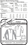 Women's Bicycle Racing Jersey Shirt #401 Sewing Pattern (Pattern Only)