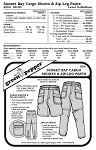 Adult's Sunset Bay Cargo Shorts & Zip Leg Pants Trousers #524 Sewing Pattern (Pattern Only)
