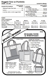 Rugged Tote & Portfolio Bag #533 Sewing Pattern (Pattern Only)