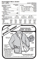 Adult's Frenchglen Barn Jacket Coat Outerwear Cold Weather #537 Sewing Pattern (Pattern Only)