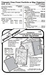 Tripmate Clear Front Portfolio/Atlas Organizer #538 Sewing Pattern (Pattern Only)