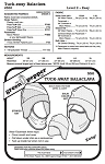 Tuck-Away Balaclava Face Mask Neck Warmer Hat #550 Sewing Pattern (Pattern Only)