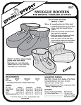 Snuggle Booties Infant Toddlers Youth Slippers Shoes #557 Sewing Pattern (Pattern Only)