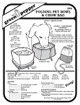 Folding Pet Bowl & Chow Bag Container #558 Sewing Pattern (Pattern Only)
