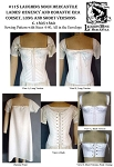 Ladies Corset Underwear Stays Regency & Romantic Era Long & Short Versions c. 1805-1840 Sewing Pattern #115 (Pattern Only)