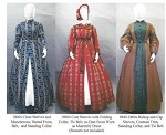 Wrapper Work Dress Morning Gown Maternity Dress 1840's-1860's 1840's-1860's Civil War Era Reproduction Sewing Pattern #118 (Pattern Only)
