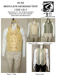 Men's Late-Georgian Vest Waistcoat 1795-1817 Sewing Pattern #125 (Pattern Only)