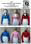 Ladies Wrapping Front Spencer Jacket c.1798-1809 Sewing Pattern #129 (Pattern Only)