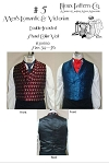 Men's Romantic & Victorian Era Double-breasted Shawl Collar Vest 1830-1860 Sewing Pattern #5 (Pattern Only)