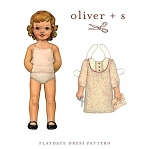 Sewing Pattern - Sizes 4-8 Girls Playdate Dress Smock Clothes Pattern by Oliver + S (OS007PD2)