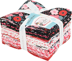Fat Quarter Bundle Hello Sweetheart Valentine's Day Sweetheart Hearts Pink Quilter's 17 Fat Quarters Riley Blake Designs FQ-7620-17 M204.10