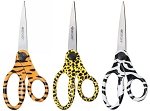 Westcott Printed Scissors 8 inch Straight Trendsetter Stainless Steel Blades - 3 Colors & Patterns