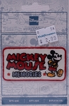 Wrights Mickey Mouse Memories Iron On Applique Red White Badge Disney Appliques 2.75W x 1.375H inches (M211.07)