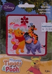 Wrights Winnie the Pooh & Friends Iron On Applique Badge Disney Appliques 3W x 3H inches (M211.13)