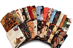 10 Fat Quarters - Assorted Western Cowboys Old West Out West Horses Rodeo Horse Lasso Boots Classic Quality Quilters Cotton Fabric Bundle M221.11