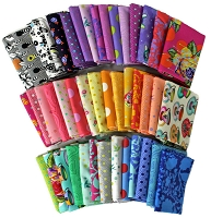 10 Fat Quarters - Tula Pink Free Spirit Assorted Floral Flowers Animals Geometric Classic Quality Quilters Cotton Fabrics Fat Quarter Bundles Pre-Cuts M222.16