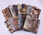 10 Fat Quarters - Tim Holtz Assorted Free Spirit Maps Rulers Numbers Charts Classic Quality Quilters Cotton Fabrics M222.17