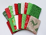 10 Fat Quarters - Assorted Patrick Lose Christmas Cheer Holiday Winter Wonderland Winterlude Red Green White Quality Quilters Cotton Fabrics M222.18