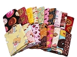 10 Fat Quarters - Sweet Treats Dessert Candy Baking Cooking Food Brownies Cookies Donuts Snacks Munchies Fabrics Quality Quilters Cotton Assorted Fat Quarter Bundle M224.02