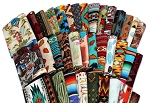 10 Fat Quarters - Southwest Southwestern Aztec Tribal Adobe Cliffs Desert Cactus Plains Woven Blanket Baskets Pottery Stripes Fabrics Quality Quilters Cotton Assorted Fat Quarter Bundle M224.04