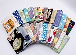 10 Fat Quarters - Assorted Tea Cups Tea Party Teatime Teapot Herbs Teabags Fine Bone China Tea Drinkers Quality Quilters Cotton Fabrics M226.12