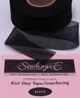 Black Fusible Knit Stay Tape - 1.25