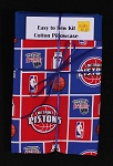 Easy to Sew Kit Cotton Pillowcase - Detroit Pistons NBA Basketball Sports Team M414.07