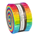 Jelly Roll - Patina Handpaints Ombre by Lunn Studios Rainbow Batiks 2.5