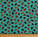 Cotton Arrowheads Arrow Heads Southwestern Southwest Tribal Native American Hopi Trail Blue Cotton Fabric Print by the Yard (40114-2)