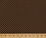 Cotton Jo Morton Essex Squares Checkerboard Checks Brown Civil War Reproduction Cotton Fabric Print by the Yard (7431)